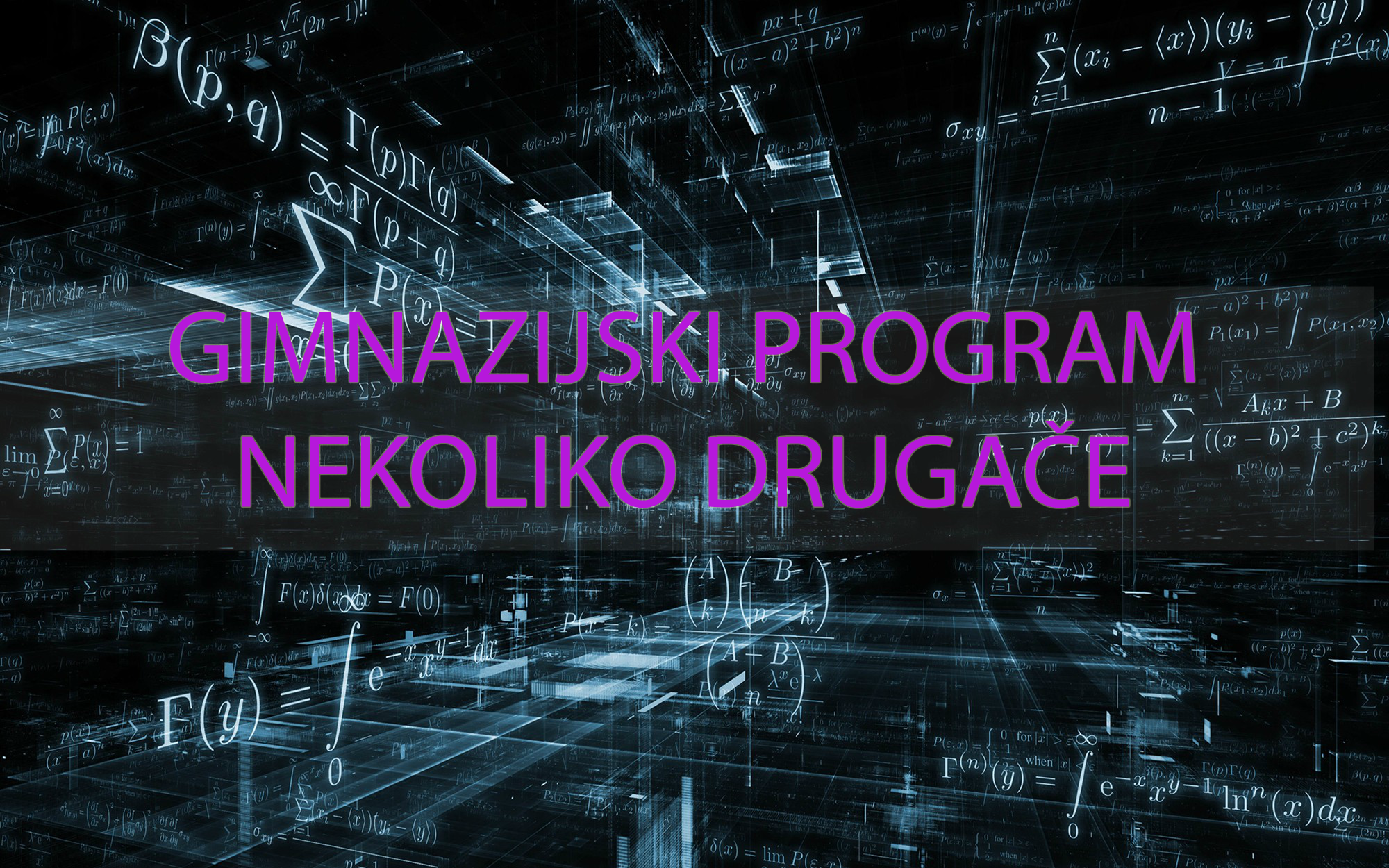Gimnazijski program nekoliko drugače