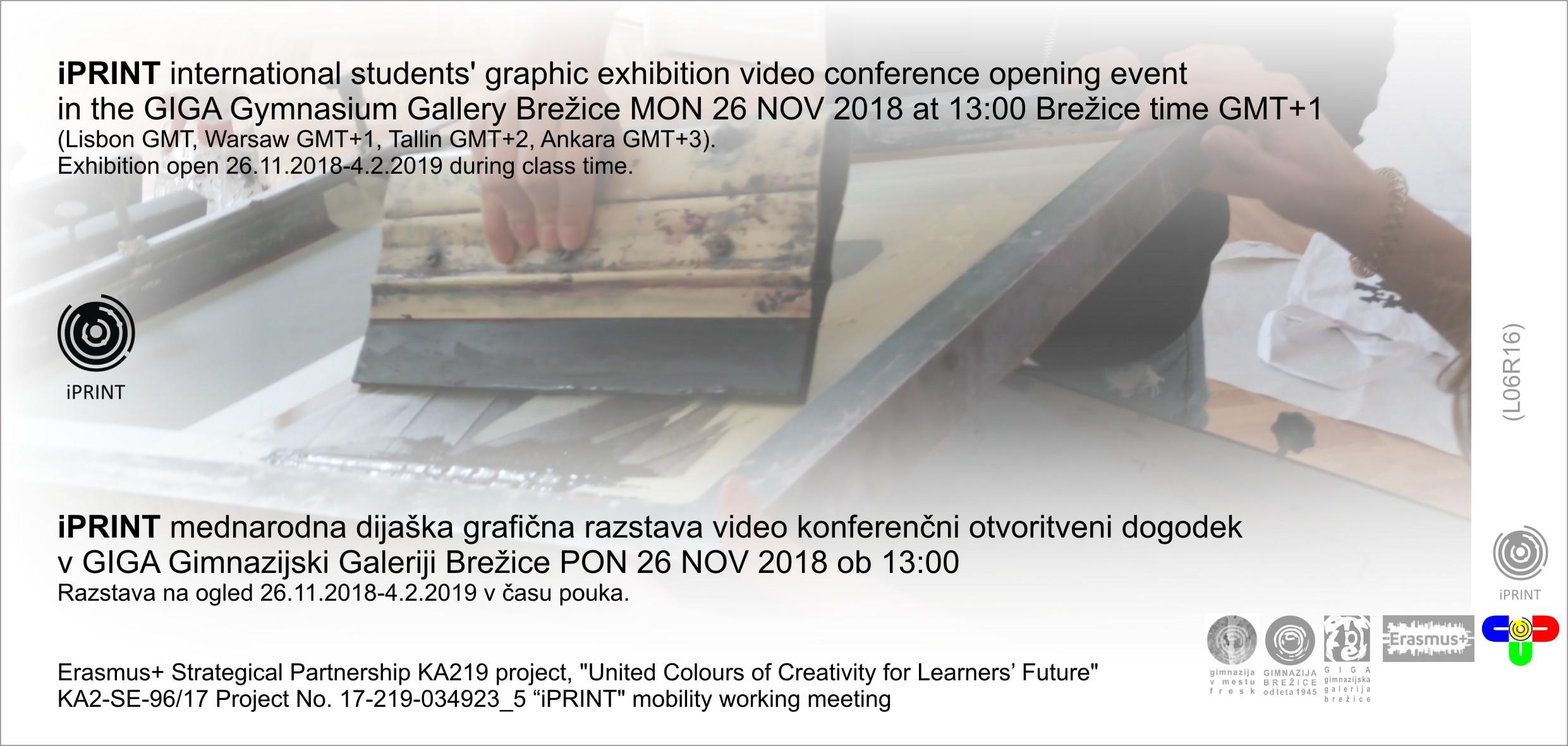 Vabilo na otvoritev iPRINT razstave